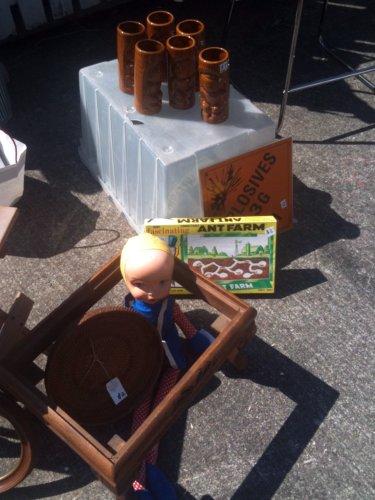 Weird doll with ant farm