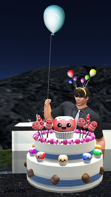 Boof - Party Balloon and Headband, Grumble - Celebrate! Cake