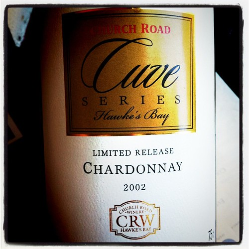 Church Road Cuve Series Chardonnay 2002, Hawke's Bay, NZ