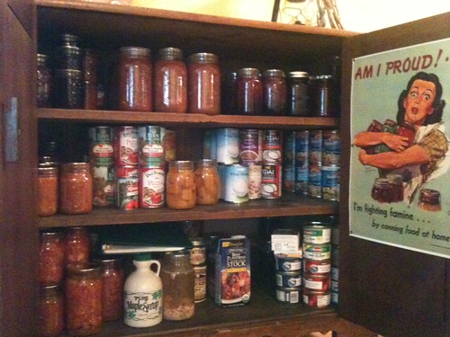Picture of the pantry, Sept. 2011