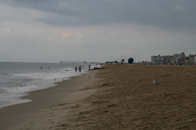 The beach at Ocean City, MD