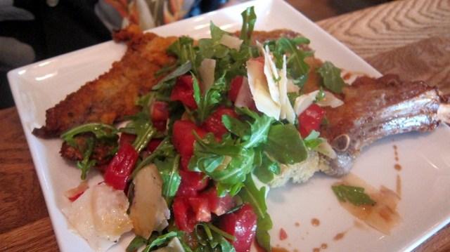veal milanese at cibo e beve