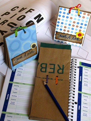 Note book from brown papers & tissue box