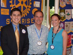 Sunrise Rotary's Newest Member Gabriel Papa