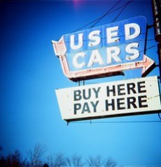 car lot sign