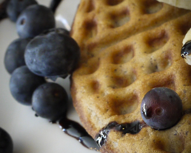 blueberry waffle at the Blue Fig, the Mission, San Francisco, CA