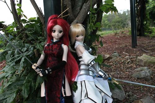 Yoko (alpha) and Saber Lily