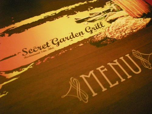 SG Grill menu