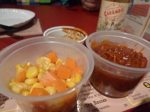 Sides - baked beans & veggies