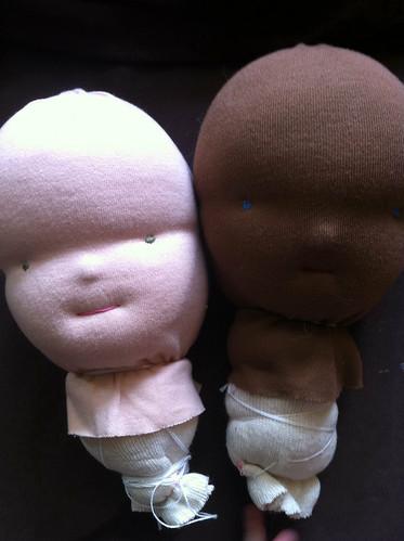 dolls in progress by rebourne.etsy.com