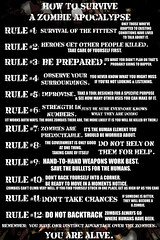 12 Rules: How To Survive A Zombie Apocalypse