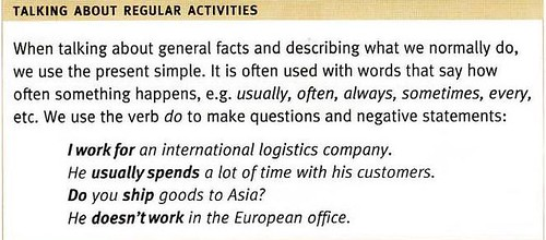 talking in English about regular Logistic activities