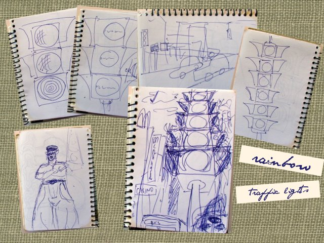 rough sketches traffic lights
