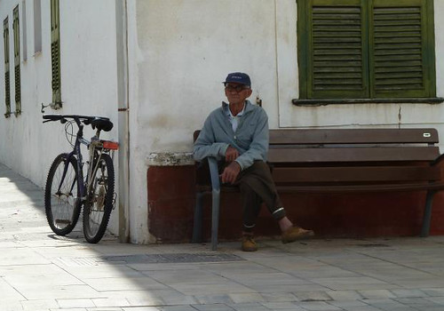 Old guy and his trusty bicycle