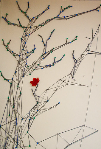 A tree made from string-2