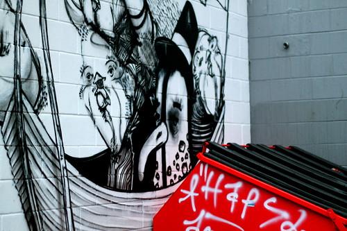 Wednesday: Grafitti near the Pit Bar