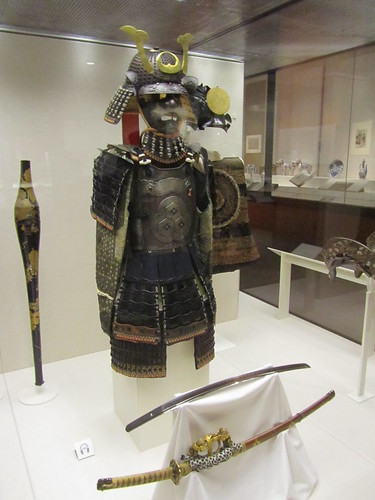 Japan exhibition: Samurai armour and helmet