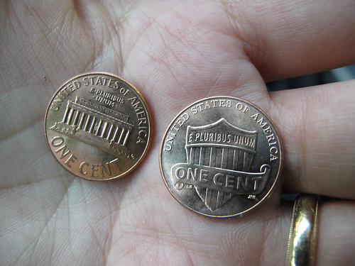 when did they change the back of the penny?
