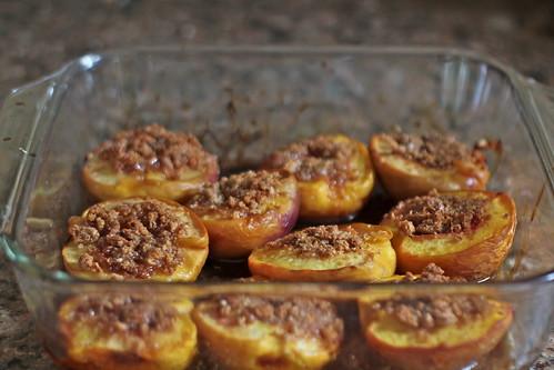 roasted peaches stuffed with amaretti