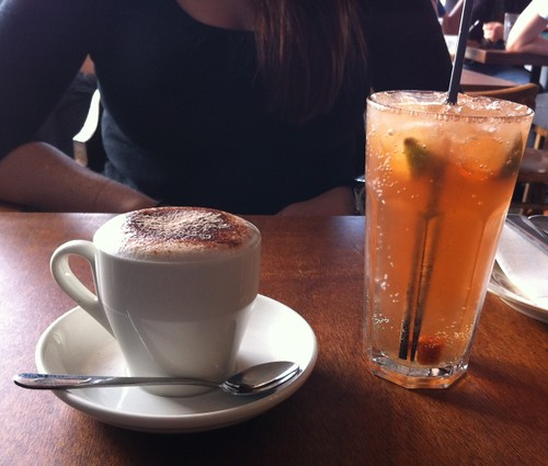 Cappucino & Lemon Lime & Bitters at West End Deli