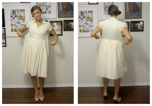 large lace dress