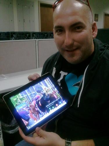 Luke Stangel of Tackable shows off TapInBayArea iPad app