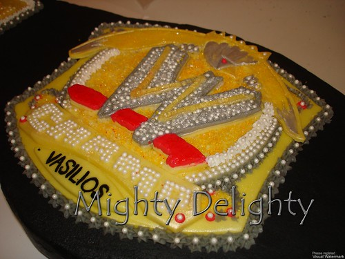 Pleasant Wwe John Cena Championship Belt Cake Mighty Delighty Personalised Birthday Cards Beptaeletsinfo