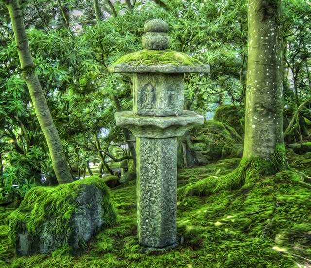 Japanese Lantern - Painterly - by Scott Loftesness