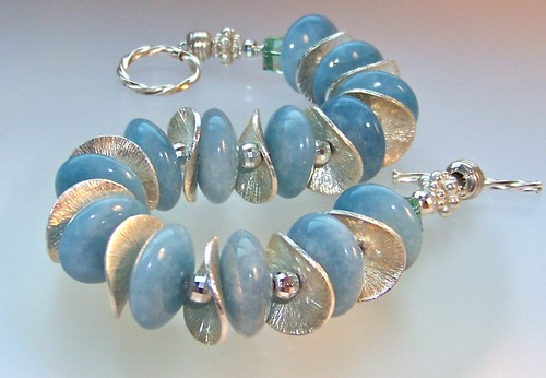 MerMaid Waves Unique Gemstone Bracelet by WETCLOUD