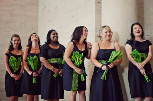 Bridesmaid laughter