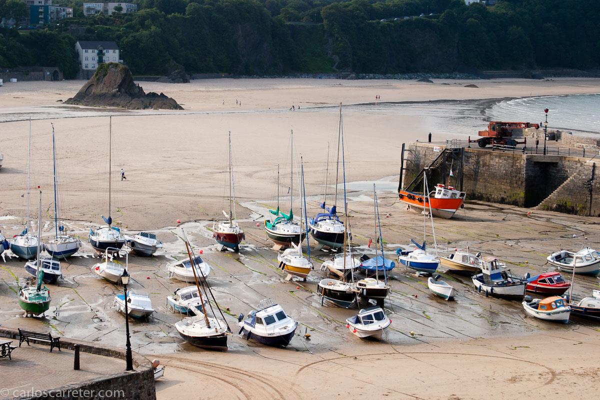 Puerto con marea baja - Tenby
