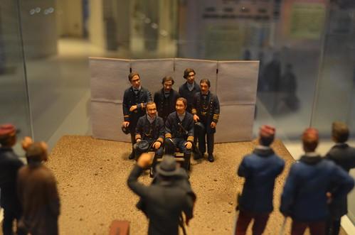 五稜郭タワー内に色々模型があった