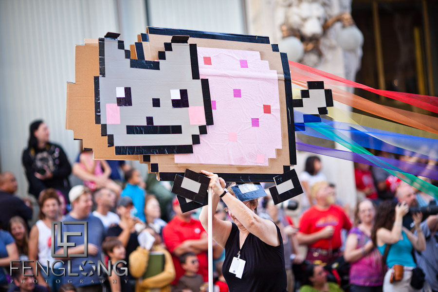 Nyan Cat at the 25th Anniversary Dragon Con Parade 2011 on Peachtree Street in Downtown Atlanta