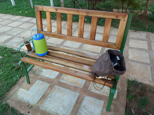Amy's terere kit on a bench