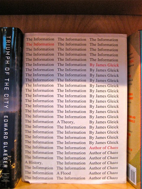 The Information, di James Gleick; jacket design di Peter Mendelsund