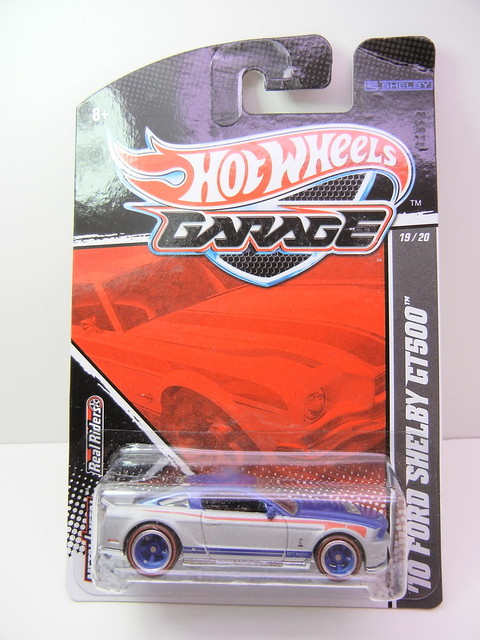 hot wheels garage '10 ford shelby gt500 silver blue (1)