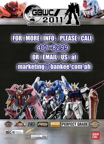 Gundam Philippines - GBWC Flyer  - Gunpla Builders World Cup - 2011