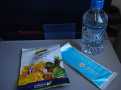 Snacks onboard Lao Airlines
