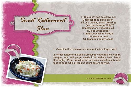 Sweet Restaurant Slaw