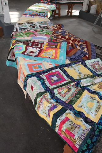 Some of the finished quilts