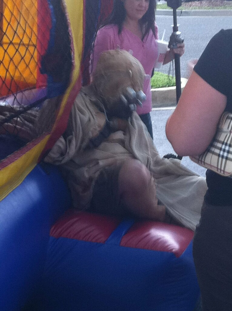 Tusken Raider in Jump Castle