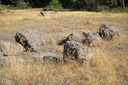 lava aggregate boulder near Pinecrest Lake CA