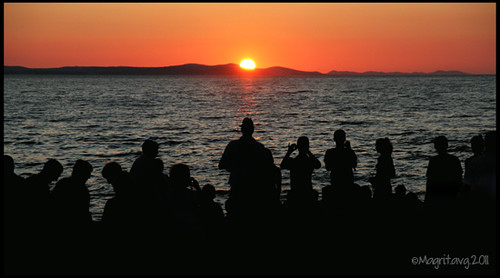 sunset from Zadar