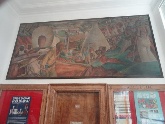WPA / Section Mural, Russellville AL Post Office