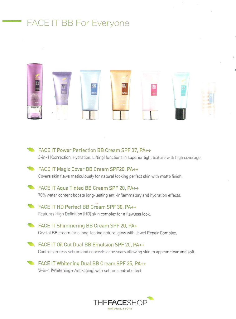THEFACESHOP products