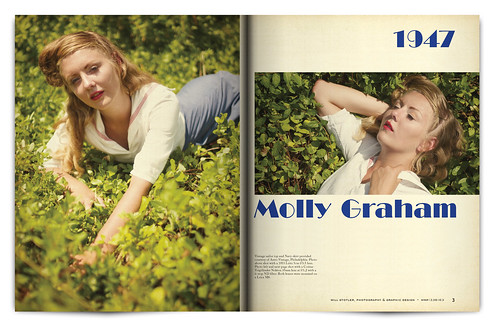 Vintage Magazine Spread Design Project - Pgs. 2 & 3