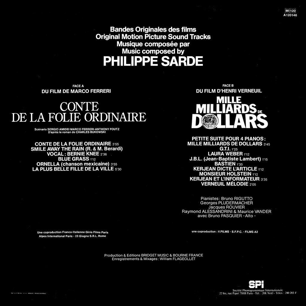Philippe Sarde - Mille milliards de dollars