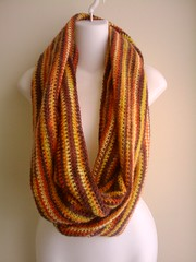Autumn Colors Eternal Infinity Scarf Orange Ye...