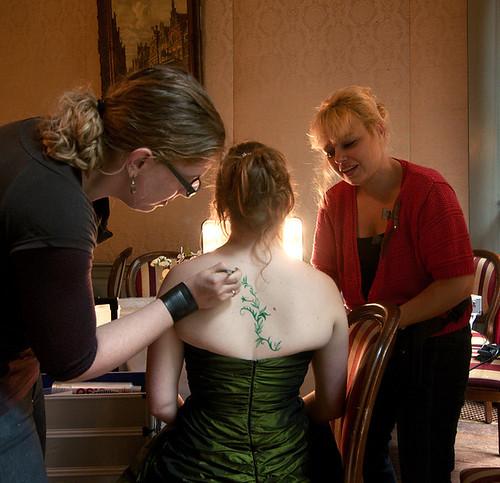 Applying the bridespaint