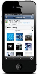IBM Connections mobile app for Apple iOS